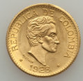 Colombia, Colombia: Republic gold Nine-Piece 5 Pesos Group Lot 1923-1930,...(Total: 9 coins)