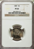 1887 5C PR65 NGC. NGC Census: (183/47). PCGS Population (150/62). Mintage: 2,960. Numismedia Wsl. Price for problem free...