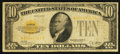 Small Size:Gold Certificates, Fr. 2400* $10 1928 Gold Certificate Star. Very Good-Fine.. ...