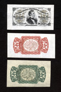 Fractional Currency:Third Issue, Fr. 1294SP Wide Margin Specimen Set 25c Third Issue Gem New. This is a lovely Fessenden wide margin specimen set that has th... (Total: 3 notes)