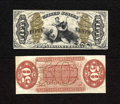 Fractional Currency:Third Issue, Fr. 1343SP 50c Narrow Margin Specimen Pair Third Issue Justice Choice New. A wonderful example of this narrow variety Justic... (Total: 2 notes)