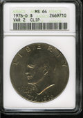 Eisenhower Dollars: , 1976-D $1 Type Two--Clip--MS64 ANACS....