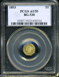 California Fractional Gold: , 1853 $1 Liberty Octagonal 1 Dollar, BG-530, R.2, AU55 PCGS. PCGSPopulation (68/183). (#10507)...
