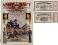 Football Collectibles:Programs, 1926 Soldier Field Dedication -Army Navy Game Program and Ticket Stubs (3)....