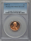 Proof Lincoln Cents, 1987-S 1C PR70 Red Deep Cameo PCGS. PCGS Population (149). NGC Census: (24). Numismedia Wsl. Price for problem free NGC/PC...
