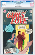 Silver Age (1956-1969):Romance, Girls' Love Stories #147 (DC, 1969) CGC NM 9.4 Off-white to whitepages....