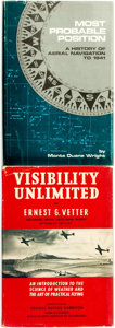 Books:Non-fiction, [Aviation]. Pair of Books. Titles include: Ernest G. Vetter. Visibility Unlimited: An Introduction to the Science of... (Total: 2 Items)
