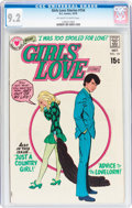 Bronze Age (1970-1979):Romance, Girls' Love Stories #154 (DC, 1970) CGC NM- 9.2 Off-white to whitepages....