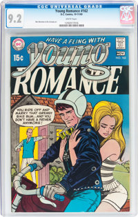 Young Romance #162 (DC, 1969) CGC NM- 9.2 White pages