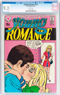Young Romance #167 (DC, 1970) CGC NM- 9.2 White pages