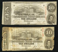 Confederate Notes:1863 Issues, T59 $10 1863 (2) PF-19; PF-26 Cr. 442; Cr. 443.. ... (Total: 2notes)