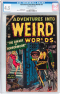 Golden Age (1938-1955):Horror, Adventures Into Weird Worlds #27 (Atlas, 1954) CGC VG+ 4.5 Cream tooff-white pages....