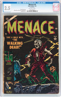 Golden Age (1938-1955):Horror, Menace #9 (Atlas, 1954) CGC GD+ 2.5 Off-white pages....