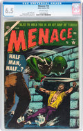 Golden Age (1938-1955):Horror, Menace #10 (Atlas, 1954) CGC FN+ 6.5 Off-white pages....