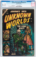 Golden Age (1938-1955):Horror, Journey Into Unknown Worlds #19 (Atlas, 1953) CGC FN+ 6.5 Off-whiteto white pages....