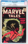 Golden Age (1938-1955):Science Fiction, Marvel Tales #156 (Atlas, 1957) CGC FN/VF 7.0 Off-white pages....