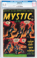 Golden Age (1938-1955):Horror, Mystic #16 (Atlas, 1953) CGC VG 4.0 Cream to off-white pages....