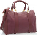 """Luxury Accessories:Bags, Nina Ricci Burgundy Leather Bowler Bag. Very Good to ExcellentCondition. 14"""" Width x 10"""" Height x 7"""" Depth. ..."""