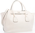 "Luxury Accessories:Bags, Prada Cream Leather Tote Bag. Excellent Condition. 14""Width x 10"" Height x 6"" Depth. ..."