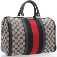 "Gucci Web Original GG Boston Bag Very Good to Excellent Condition 13"" Width x 9"" Height x 7"" Depth"