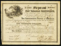 Confederate Notes:Group Lots, Ball 367 Cr. 154 $1000 1864 Six Per Cent Non Taxable CertificateVery Fine.. ...