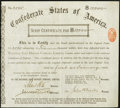 Confederate Notes:Group Lots, Ball None (Page 280) Cr. 175 $10,000 1884 Scrip Certificate VeryFine.. ...