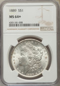 Morgan Dollars, 1889 $1 MS64+ NGC. NGC Census: (15612/2283). PCGS Population (11301/2313). Mintage: 21,726,812. Numismedia Wsl. Price for p...