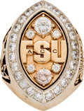 Football Collectibles:Others, 2003 Florida State Seminoles Player's Ring....