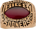 Football Collectibles:Others, 1978 Oklahoma Sooners Big 8 Championship Ring....