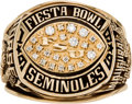 Football Collectibles:Others, 1999 Florida State Seminoles Fiesta Bowl Ring Presented to Offensive Tackle Char-ron Dorsey....