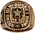 Football Collectibles:Others, 1970 Astro-Bluebonnet Bowl Ring - Alabama Crimson Tide Vs. Oklahoma Sooners....