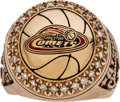 Basketball Collectibles:Others, 2000 Houston Comets WNBA Championship Ring Presented to SherylSwoopes....