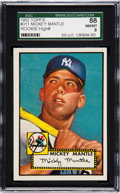Baseball Cards:Singles (1950-1959), 1952 Topps Mickey Mantle #311 SGC 88 NM/MT 8....
