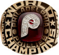 Baseball Collectibles:Others, 1980 Philadelphia Phillies World Series Championship Ring Presentedto Richie Ashburn....