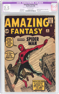 Amazing Fantasy #15 (Marvel, 1962) CGC Apparent GD+ 2.5 Slight (C-1) Off-white pages