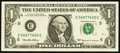 Error Notes:Ink Smears, Fr. 1924-E $1 1999 Federal Reserve Note. About Uncirculated.. ...