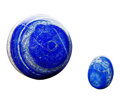 Lapidary Art:Eggs and Spheres, Lapis Sphere & Egg. Afghanistan. 3.31 inches in diameter(8.40 cm). ... (Total: 2 Items)