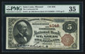 National Bank Notes:Missouri, Saint Louis, MO - $5 1882 Brown Back Fr. 471 The Continental NB Ch.# 4048. ...