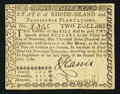 Colonial Notes:Rhode Island, Rhode Island July 2, 1780 $2 Extremely Fine-About New.. ...