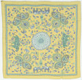 "Luxury Accessories:Accessories, Hermes 140cm Green & Blue ""Carre Kantha,"" Silk MousselineScarf. Excellent Condition. 55"" Width x 55"" Length...."