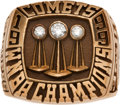 Basketball Collectibles:Others, 1999 Houston Comets WNBA Championship Ring Presented to SherylSwoopes....