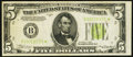Small Size:Federal Reserve Notes, Fr. 1955-B* $5 1934 Light Green Seal Federal Reserve Star Note. Very Fine.. ...
