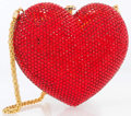 "Luxury Accessories:Bags, Kathrine Baumann Limited Edition Full Bead Red Crystal HeartMinaudiere Evening Bag, 173/500. Very Good Condition. 5.5""Wi..."