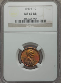 1919 1C MS64 Red and Brown PCGS. This lot also includes: 1949-S 1C MS67 Red and Brown NGC; and a 1964 1C PR67 ★