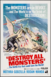 """Destroy All Monsters (American International, 1969). One Sheet (27"""" X 41""""). Science Fiction"""