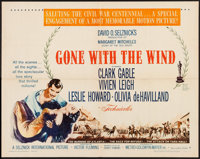 """Gone with the Wind (MGM, R-1961). Half Sheet (22"""" X 28"""") Style B. Academy Award Winners"""
