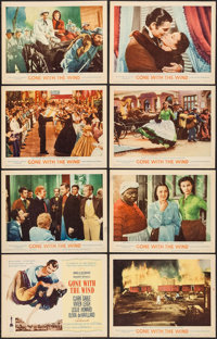 "Gone with the Wind (MGM, R-1961). Lobby Card Set of 8 (11"" X 14""). Academy Award Winners. ... (Total: 8 Items)"