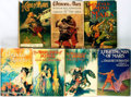 Books:Science Fiction & Fantasy, Edgar Rice Burroughs. Group of Seven Reprint Edition Mars Titles. New York: Grosset & Dunlap, various dates.... (Total: 7 Items)