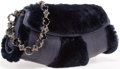 "Luxury Accessories:Bags, Judith Leiber Blue Water Snake and Fur Evening Bag. ExcellentCondition. 10.5"" Width x 5"" Height x 2"" Depth. ..."