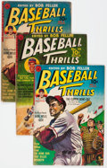 Golden Age (1938-1955):Miscellaneous, Baseball Thrills Group of 3 (Ziff-Davis, 1951-52).... (Total: 3 Comic Books)
